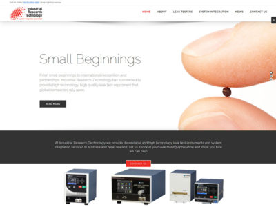 IRT Leak Tester New Website